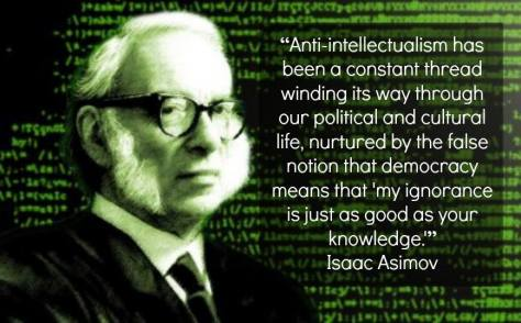 Isaac Asimov on knowledge