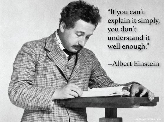 Einstein quote about explaining